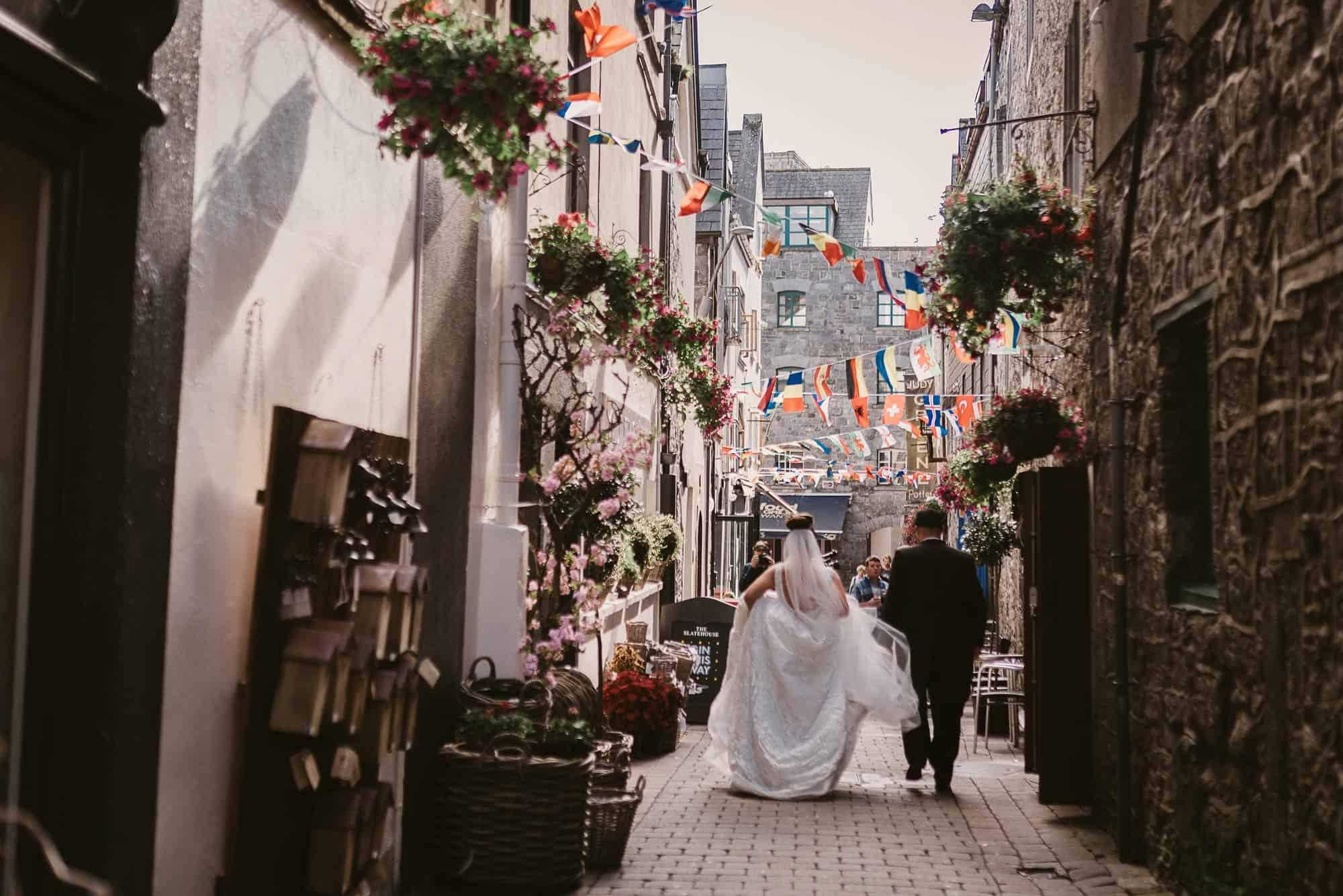 Wedding photography Ireland Medieval Streets