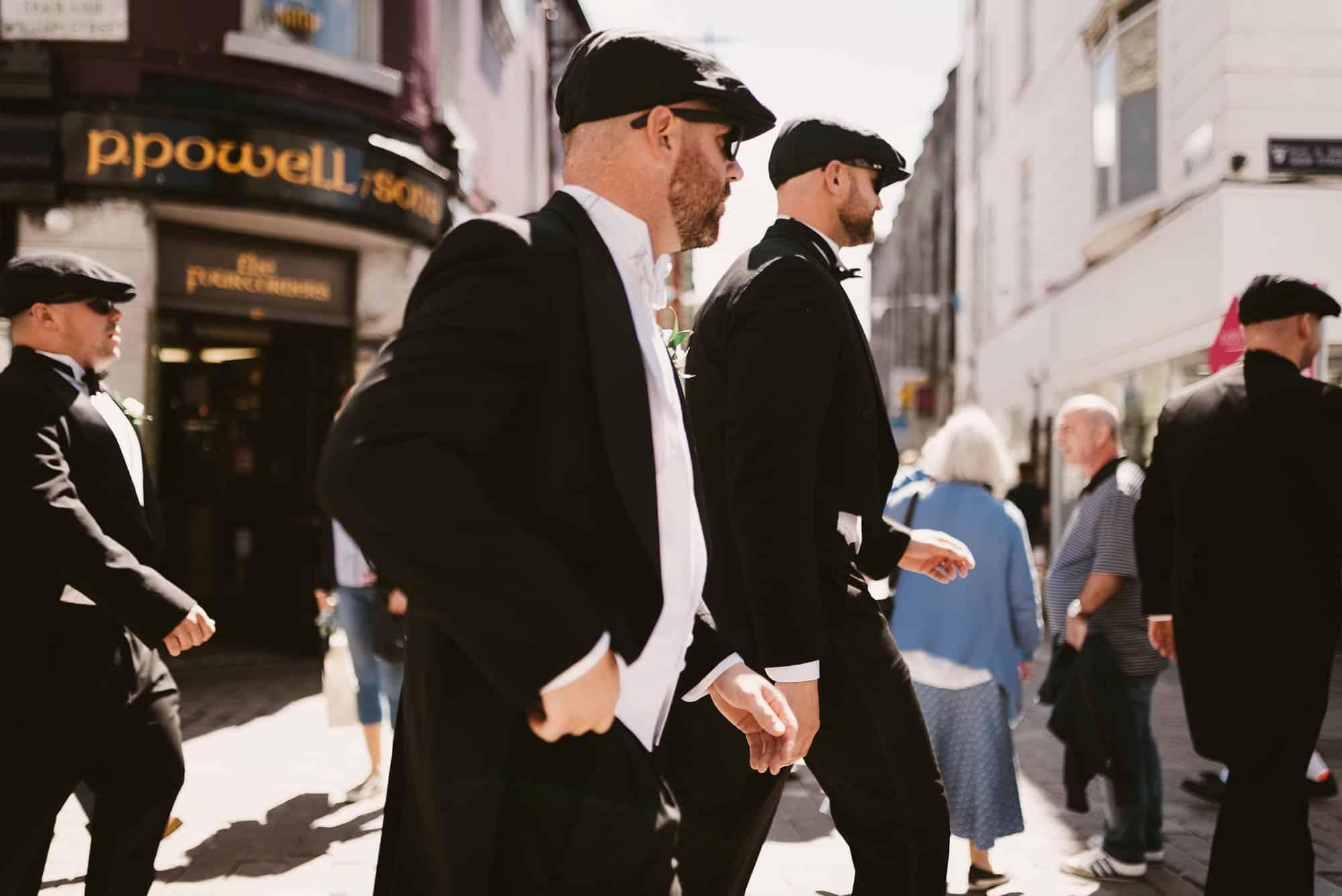 Wedding photography Ireland Peaky Hats