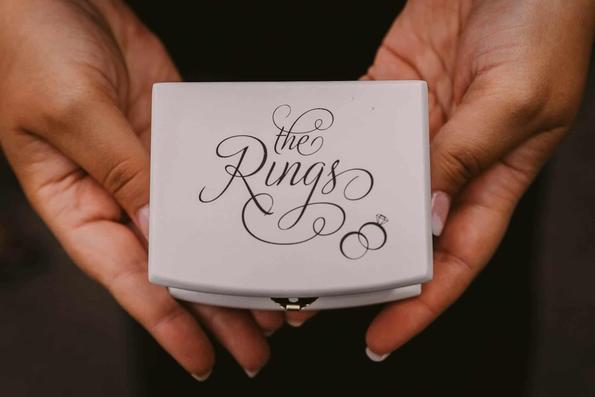 Wedding photography Ireland Ring Box
