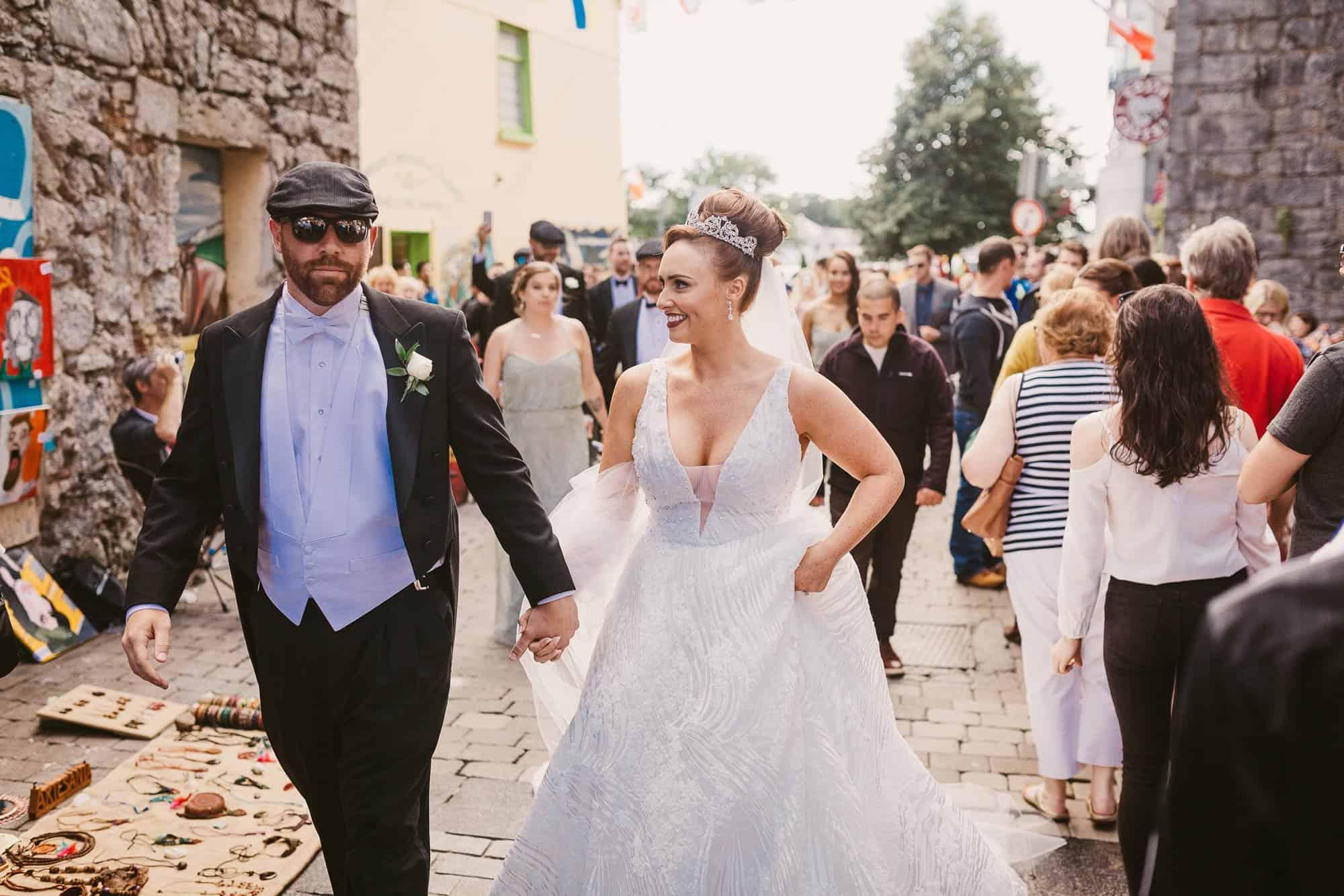 Wedding photography Ireland couple street shoot
